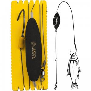 Zestaw sumowy Black Cat U-Float Rig Single Hook XL Hak - 10/0 120 cm / 100 kg