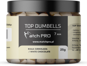 TOP DUMBELLS WHITE CHOCOLATE 7mm / 25g MatchPro