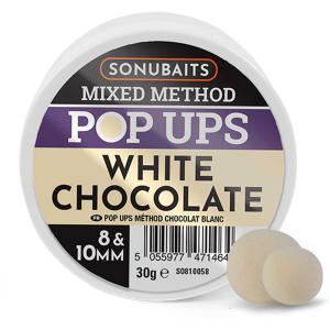 Sonubaits Mixed Method Pop-Ups 8 i 10 mm - White Chocolate