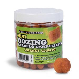 Sonubaits Mini Oozing Barbel & Carp Pellet - Cheesy Garlic // Serowo czosnkowy