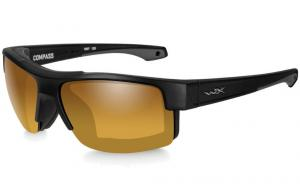 Okulary Wiley X COMPASS Pol Amber Gold Mirror / Matte Black
