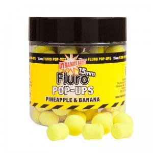 Dynamite Baits Fluro Pop-Ups & Dumbells Pineapple-Banana 15mm