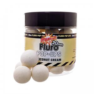 Dynamite Baits Fluro Pop-Ups & Dumbells Coconut Cream 20mm