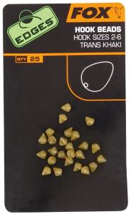 Fox Edges Hook bead x 25 size 2-6 trans khaki