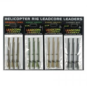 ESP Leadcore Leaders Helicopter Rigs 1m Camou